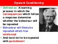 3 phase model of operant conditioning - VCE U4 Psych
