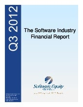 Q3 2012 Software / SaaS / Internet ...