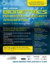 3rd Annual Biometrics For National ...