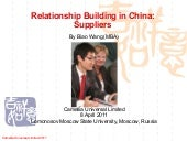 Relationship Building In China - Su...