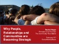 Rachel Happe: Why People, Relationships and Communities are Becoming Strategic