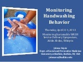 Monitoring handwashing behaviour