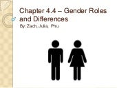 4.4 gender roles and differences