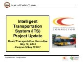 Intelligent Transportation System (ITS) Project Update