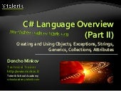 C# Language Overview Part II