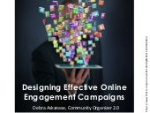 Developing Online Engagement Campaigns