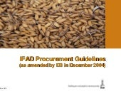 IFAD's Procurement Guidelines