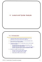 4 lexical and syntax analysis