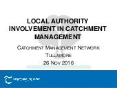 4 Local Authority Involvement in Catchment Management. Ruth Hennessy