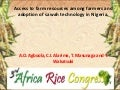 Th4_Access to farm resources among farmers and adoption of sawah technology in Nigeria.