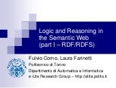 Logic and Reasoning in the Semantic...