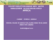 Poverty reduction linkage  with   w...