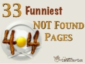 33 Funniest 404 NOT Found Error Pages