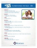 Recommended Screenings by Age - 40s