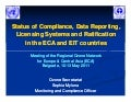 Status of compliance & data reporting
