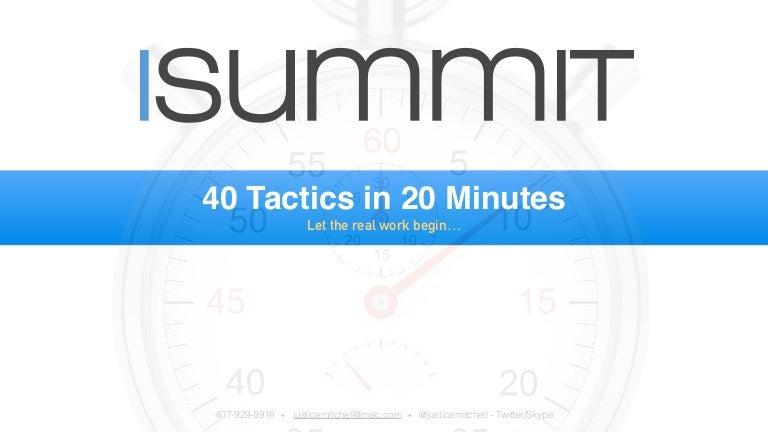 40 Social & Content Tactics In 20 Minutes