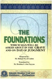 THE FOUNDATIONS WHICH MAN WILL BE A...