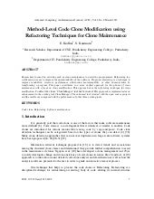 Method-Level Code Clone Modificatio...
