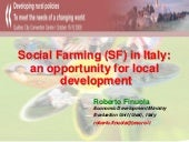 Social Farming (SF) in Italy: an op...