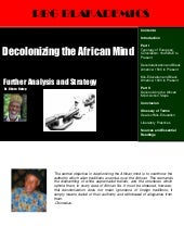 Decolonizing the African Mind: Furt...