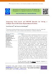 Integrating Tabu Search and MPOSH H...