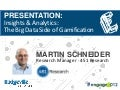 Badgeville Summit, Engage 2012 - PRESENTATION:   Insights & Analytics:  The Big Data Side of Gamification