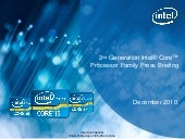 Intel Core second generation Sandy ...