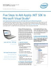Five Steps to Add AppUp .NET SDK to...