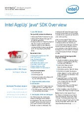 Intel AppUp Java SDK Overview