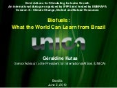 Biofuels: What the World Can Learn ...