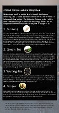 4 Chinese Herbs for Weight Loss