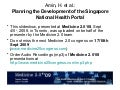 Planning the Development of the Singapore National Health Portal