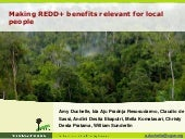 Making REDD+ benefits relevant for local people