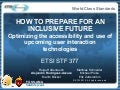 4 How to Prepare for an Inclusive Future: Identifying Enablers for Upcoming Interaction Technologies