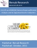4 g (lte and wimax) service revenuemarket analysis and its opportunities for industries