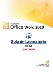 Letra Capital en Word 2010
