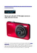 Samsung's ultra slim ST45 digital camera is sadly devoid of clowns