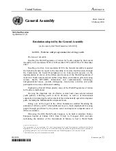 2009 - General Assembly Resolution ...