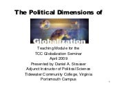 The political dimensions of globali...