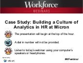 Case Study: Building a Culture of Analytics in HR at Micron