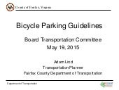 Bicycle Parking Guidelines