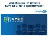 SDN NFV NV OpenNetwork @ VMUG.IT 20150529