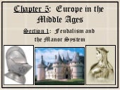 5 1 feudalism and the manor system
