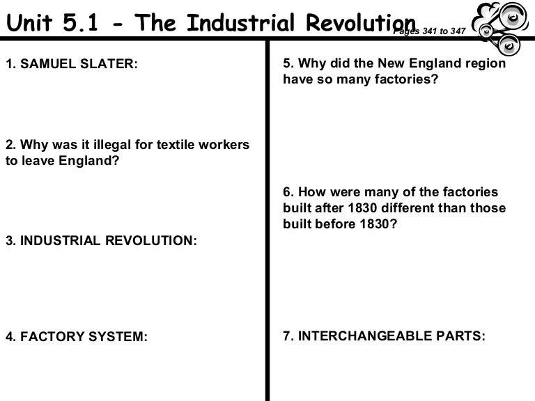 Worksheets Industrial Revolution Worksheet industrial revolution worksheet