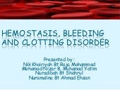 5. bleeding disorder