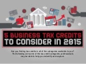 5 Important Business Tax Credits for 2015