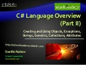 5. c sharp language overview   part ii