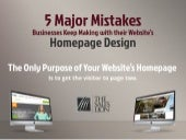 5 Major Mistakes Businesses Keep Making with their Website's Homepage Design