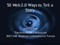 50 Web 2,0 Ways to Tell a Story