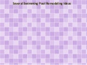 Several Swimming Pool Remodeling Ideas